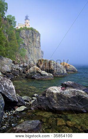 Split Rock Lighthouse, Mist