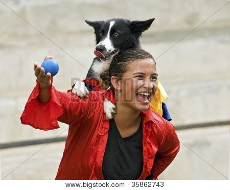 Border Collie Dog and Trainer