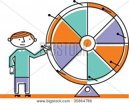 Man Spinning Wheel