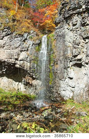 waterfall on mountain Skalistaya Chitinza in russian Primorye