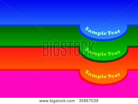 Vector Illustration Of 3 Colors Labels