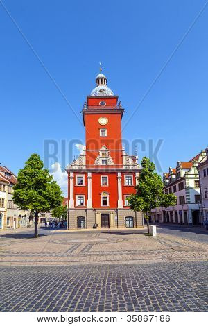 Gotha - Central Market With Historic Town Hall