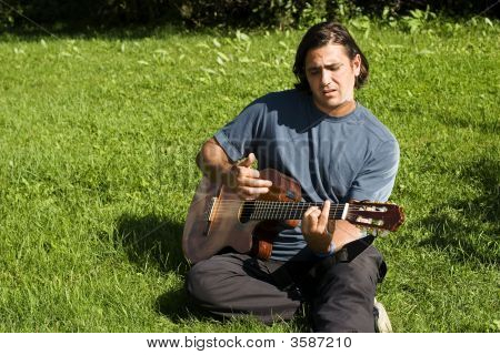 Musician In Park