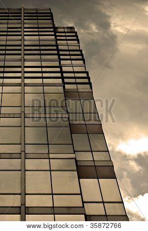 Modern Building Sunset