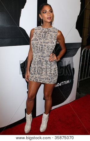 HOLLYWOOD, CA - AUGUST 13: Nicole Scherzinger arrives at the will.i.am Album Wrap Party at The Avalon on August 13, 2012 in Hollywood, California.