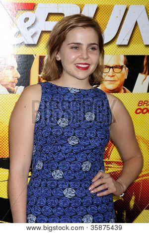 "LOS ANGELES - AUG 14:  Mae Whitman arrives at the ""Hit & Run"" Los Angeles Premiere at Regal Cinema on August 14, 2012 in Los Angeles, CA"