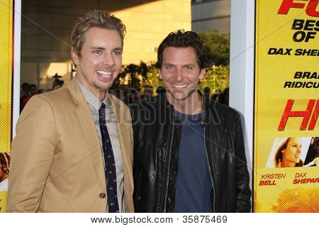 "LOS ANGELES - AUG 14:  Dax Shepard, Bradley Cooper arrives at the ""Hit & Run"" Los Angeles Premiere at Regal Cinema on August 14, 2012 in Los Angeles, CA"