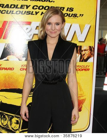 "LOS ANGELES - AUG 14:  Kristen Bell arrives at the ""Hit & Run"" Los Angeles Premiere at Regal Cinema on August 14, 2012 in Los Angeles, CA"