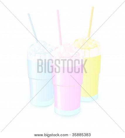 Milkshakes Vector Illustration