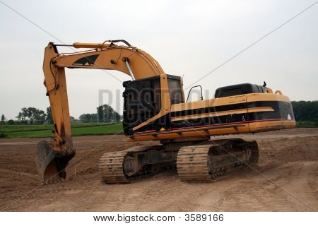 Big Yellow Heavy Construction Vehicle