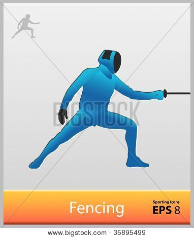 Sporting Icons Fencing.