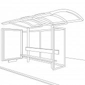 stock photo of bus-shelter  - Bus stop - JPG