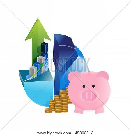 Business Savings Graphs