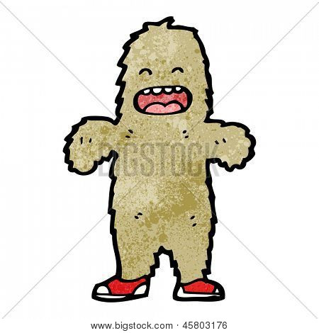 cartoon furry bigfoot monster