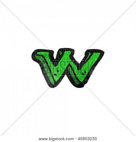 cartoon letter w