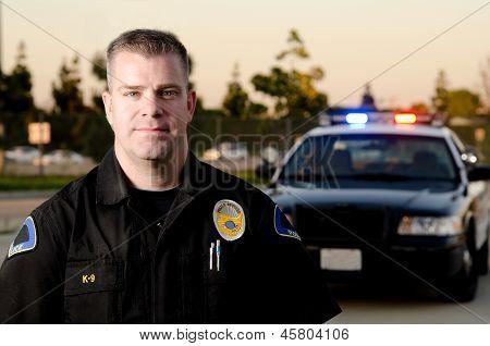 Policial de patrulha