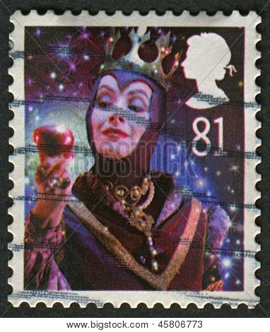 UK - CIRCA 2008: A stamp printed in UK shows image of The Wicked Queen from Snow White, circa 2008.