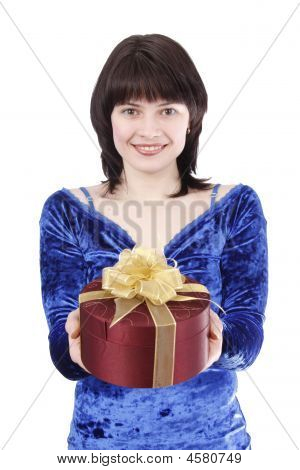 Beautiful Woman With A Gift.