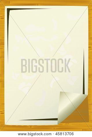 Sheet Of An Paper.