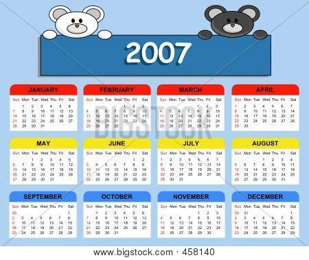 Cute Calendar 2007