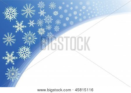 Snowflakes On A Blue Background.