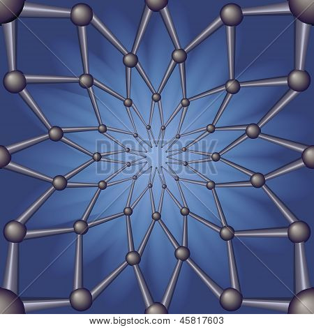Seamless Pattern Abstract Geometric Background Field.