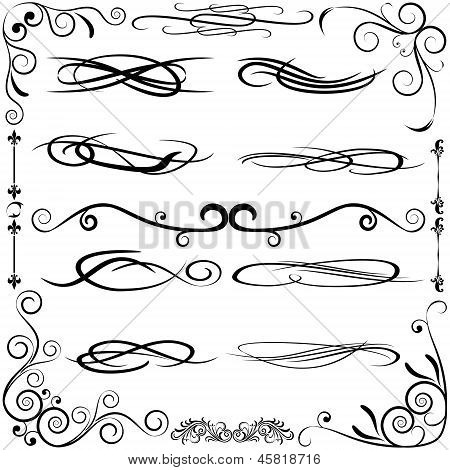Vintage Set Calligraphic Elements.