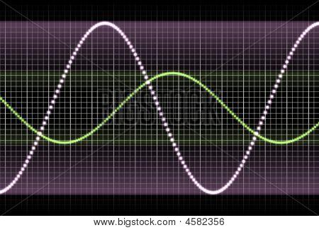 Purple Equaliser Waves