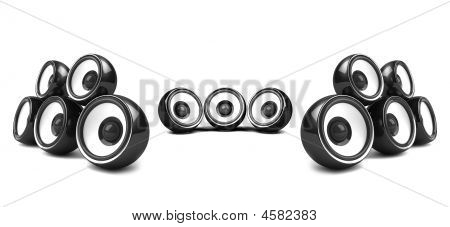 Black High-power Stereo System Over White