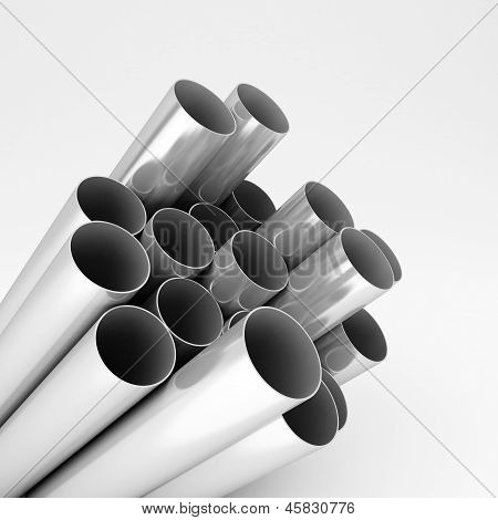 Chromed Metal Pipes