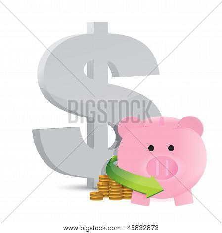 Dollar Savings Profits Illustration Design