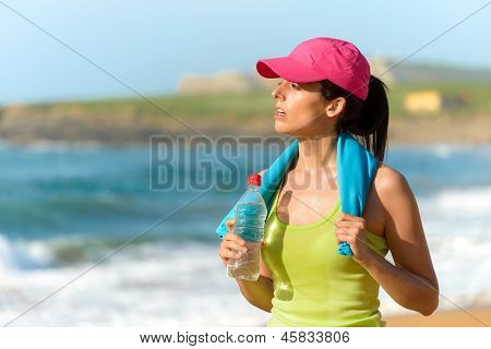 Fitnes Woman After Exercising