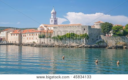 Krk Town on Krk Island,Croatia