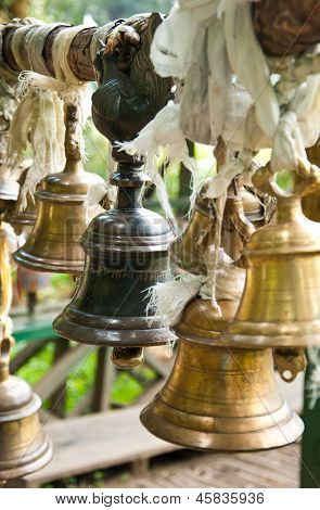 Bell At Khachoedpalri Lake In Pelling, Sikkim