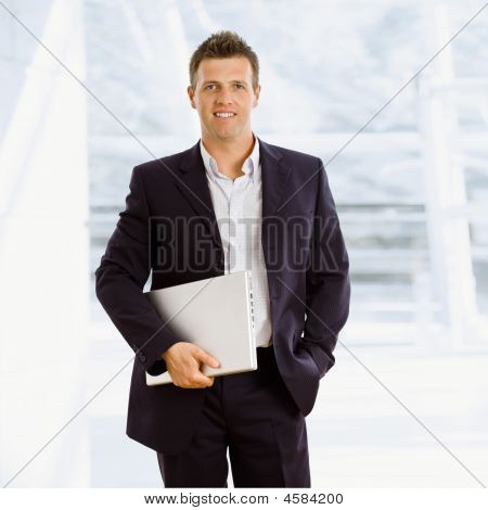 Happy Businessman Indoor