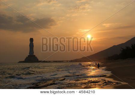 Pôr do sol no mar do Sul