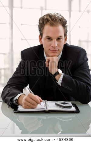 Businessman With Calendar