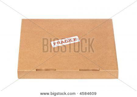 Fragile On Cardboard Box