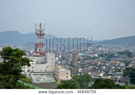 Topview Of Isahaya City With Antenna At Isahaya, Japan