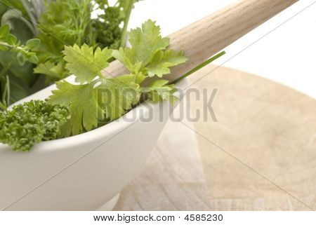 Herbs Mortar And Pestle - Lframe