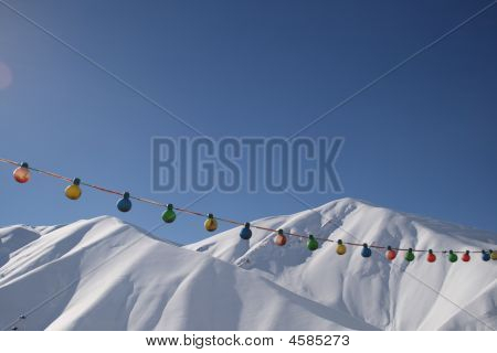 Snow covered Elburz (Alborz) Mountains