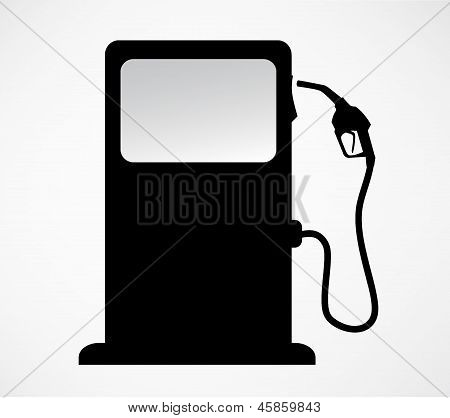 silhouette of gas station pump. isolated background vector