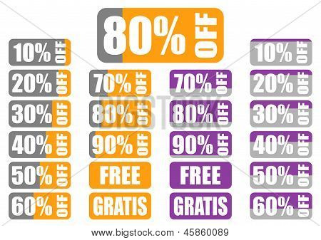 Percentage Discount Labels With Indicator