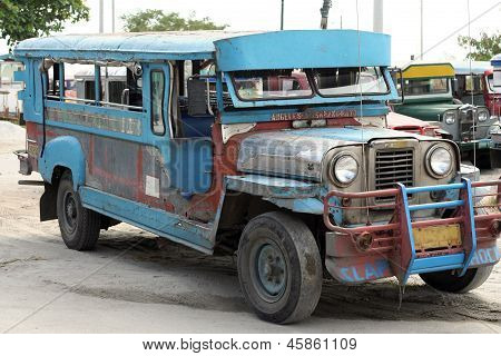 Battered Jeepney Angeles Philippines