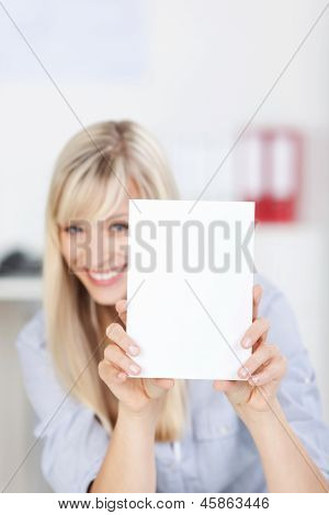 Woman With White Paper