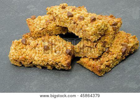 Chocolate flapjack oat cakes