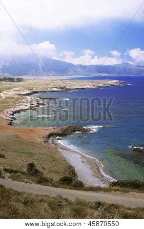 San Vito Lo Capo, Sicily: east side coastline