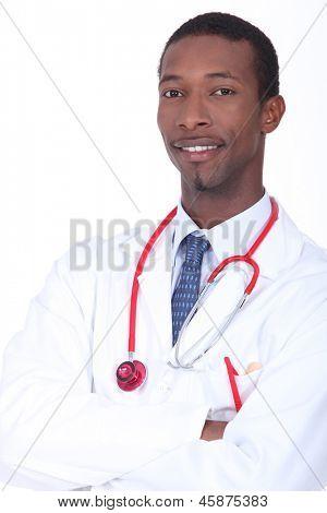 Cheerful doctor