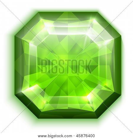 Asscher-cut emerald - eps10