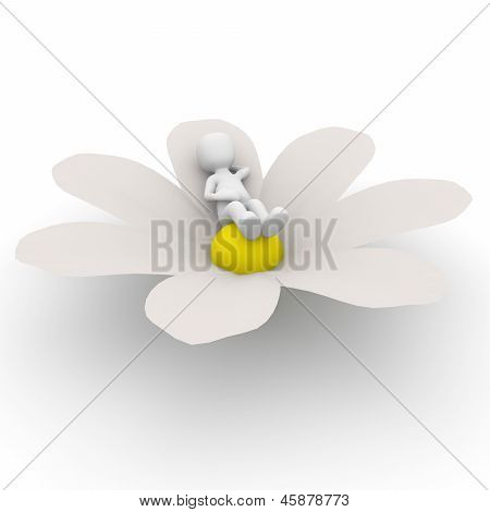 Relaxamento na flor
